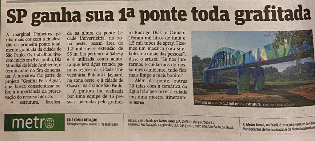 SP ganha sua 1ª ponte toda grafitada