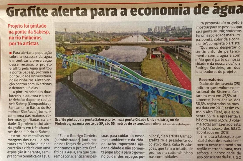 Grafite alerta para economia de água